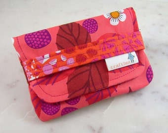 Sanitary Pad Holder, Berry Print, Period Bag, Period Kit, Pads Pouch, Sanitary Napkins Bag, Period Pads, Feminine Products, Card Case