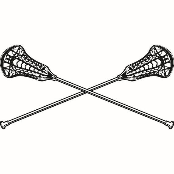 lacrosse logo 2 sticks crossed equipment field sports game outfit rh etsystudio com Lacrosse Stick Silhouette lacrosse goalie stick clip art
