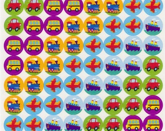Transport Stickers - Trains, Buses, Planes, Boats, Cars - Reference C5401