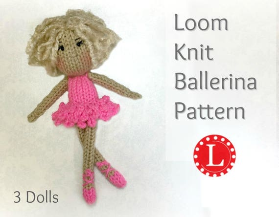 Amigurumi Loom Patterns : Loom knitting patterns doll toys amigurumi tiny dolls
