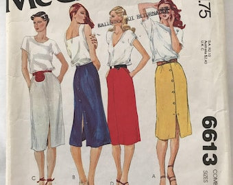 McCall's 6613, Sewing Pattern, Skirt Sizes 8, 10 & 12