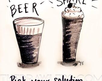 Beer or Milkshake by Nachanita