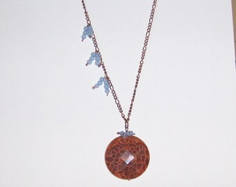 SALE 60 PERCENT OFF Fire Island Necklace in Agate