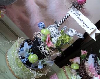 French alice in wonderland bunny box