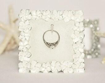 Ring Holder, Wedding Ring Holder, Flower Ring Holder, Engagement Ring Holder, Engagement Gift, Ring Holder Frame, Wedding Ring Frame
