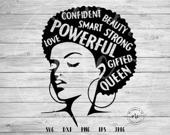 Black History Month, black history svg, afro svg, Afro Word Art, Natural Hair, Strong Women, Strong Black women, svg, dxf, png, eps, jpeg