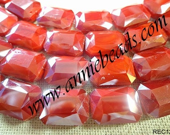 Beautiful Ruby Red Rectangle Crystal Shape Strand!!!