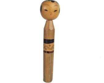 Fabulous Vintage Naruko Style Vintage Japanese Kokeshi Doll with Amazing Expression. Dento Kokeshi. Traditional Kokeshi. Japanese Doll. Wood