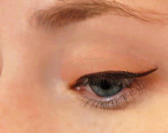 Peach Tangerine Eyeshadow & Eyeliner - All-Natural Gentle Vegan Mineral Makeup