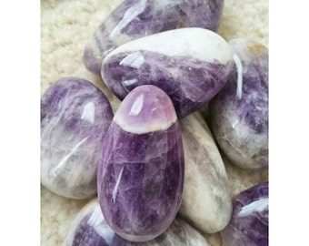 AMETHYST Gallet - Healing Crystals - Metaphysical - Spirituality - Massage Stone - Sobriety Stone - Crystal Therapy