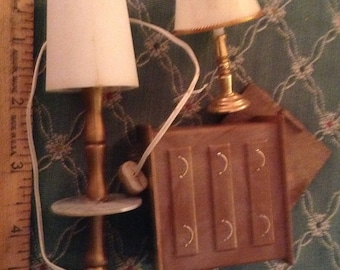 Dollhouse lamps and dresser