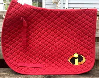 The Incredibles Logo Embroidered Saddle Pad