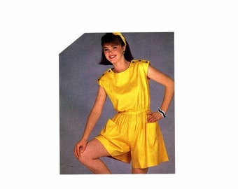 SALE Simplicity 6278 Misses Pull-On Romper Vintage Sewing Pattern Size 14 Bust 36 UNCUT