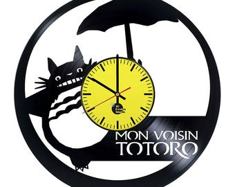 Totoro Anime Vinyl Record Wall Clock