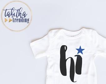 Hi Infant Boy White Bodysuit (SKU 12)
