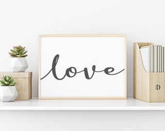 Love Sign, Simple And Cute Love Print