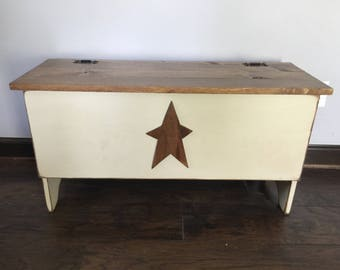 Primitive Wood Storage Bench