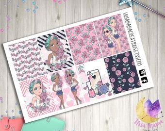 Summer Lovin Vibes Full box Decorative Planner Stickers