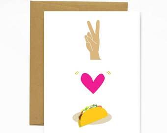 Peace, Love, Tacos - Notecard