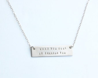Rumi bar necklace gold or silver