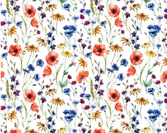 Wild Flowers - Ceramic Decals- Enamel Decal - Fusible Decal - Glass Fusing Decal ~ Waterslide Decal - 68269