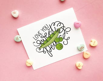Love You, Sweet Pea - Downloadable Card