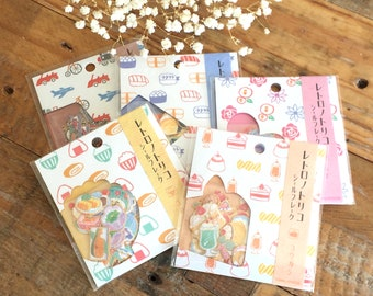 Retro Style Traditional Japanese Washi Sticker / Seal bits at your choice for Art Journaling, Snail Mail, Packaging, Planner Deco