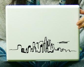 Los Angeles Skyline Sticker Decal Laptop Decal iPad