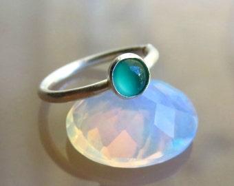 Green Onix Nose Ring - Green Onix Nose Piercing - 18 Gauge Nose Ring - Green Cartilage Earring // Gemstone Nose Ring