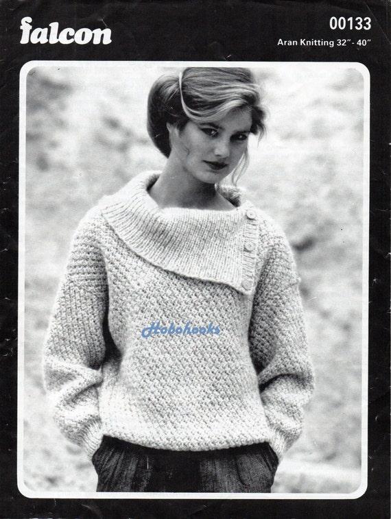 Womens knitting pattern womens aran sweater pattern ladies dt1010fo