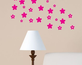 flores Wall Decal cherry blossom floral theme perfect to add a cute touch in a nursery SALE 24 pieces