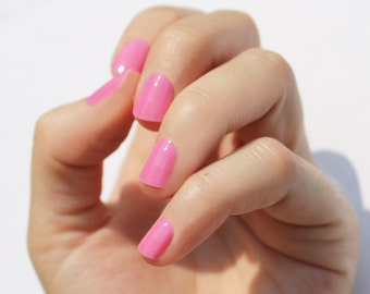 Solid Pink Nail Wraps