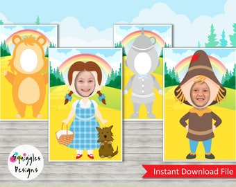 Wizard Of Oz Photo Booth Props (includes Dorothy, Scarecrow, Tin Man & Cowardly Lion) - Digital Files