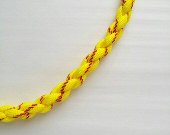 Softball necklace, softball paracord necklace, yellow and red accessory, softball player gift, fastpitch necklace, custom length