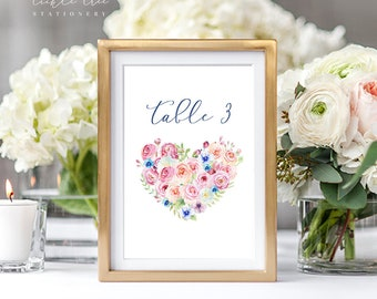 Table Number Cards - Boho Pink (Style 13765)