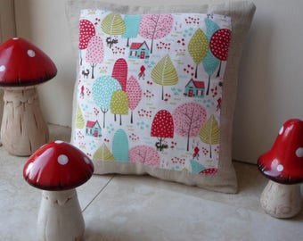 Little Red Riding Hood Linen Cushion