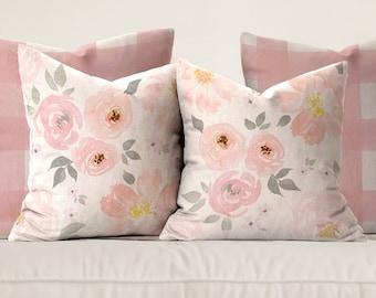 Amara Floral & Gingham Pillows