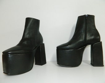Made to order platform 4 inches and heel at 6 inches  7 inch shaft with inside zipper