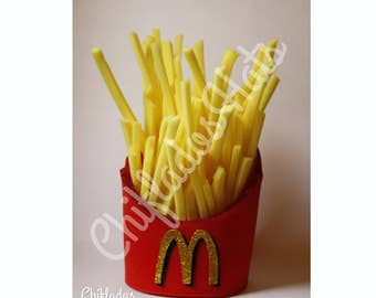 Fries Fench McDonald's Hat fast food Fun Party