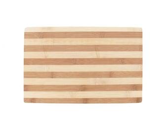 """Stripe Bamboo Cutting Board - 15"""" x 9.5"""" x 0.75"""""""