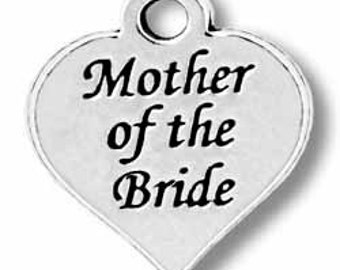 ON SALE - 1pc Pewter Mother of the bride charm - 12 mm X 13 mm