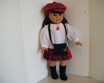 """Handmade Pleated Skirt Outfit for """"Samantha"""", American Girl and all 18"""" Dolls"""
