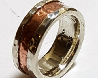 Ladies Silver Copper Band