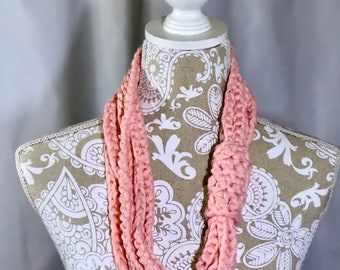 Coral Colored T-Shirt Cowl