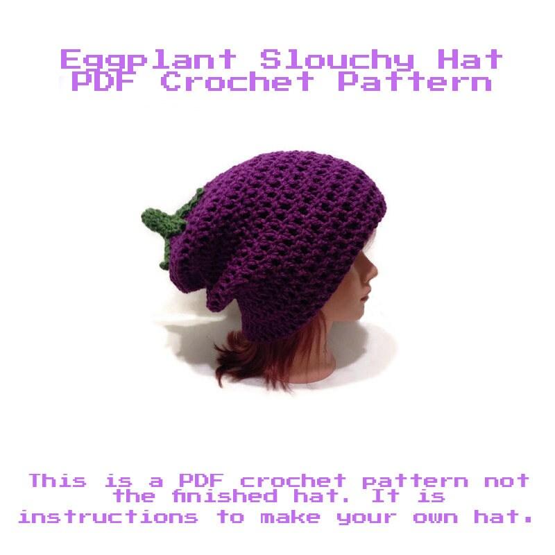 Eggplant Hat Crochet Pattern, Vegetable Hat Pattern, Crochet ...