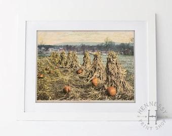 Fall Pumpkin Printable Art / Instant Download / Art Print / Autumn / Halloween / Seasonal Art / Fall Printable Art / Pumpkin Patch