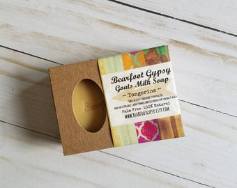 On Sale! Goats Milk Soap - Tangerine  - 100% Natural - Essential Oil - Natural Soap - Palm Free Soap - Carrot - Calendula - Organic Soap