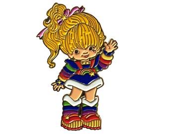 Rainbow Brite Enamel Pin (G2) - Lapel Pin - Hat Pin - Soft Enamel Pin - 80s Nostalgia Pin - 1980s Toys - 80s Cartoon - Brooch -  Retro Pin