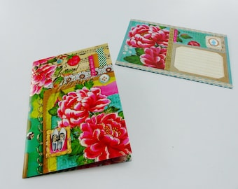 card BEST WISHES greeting card with matching colored envelope