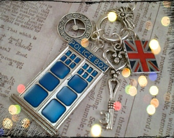 Dr. Who Inspired Charm Necklace